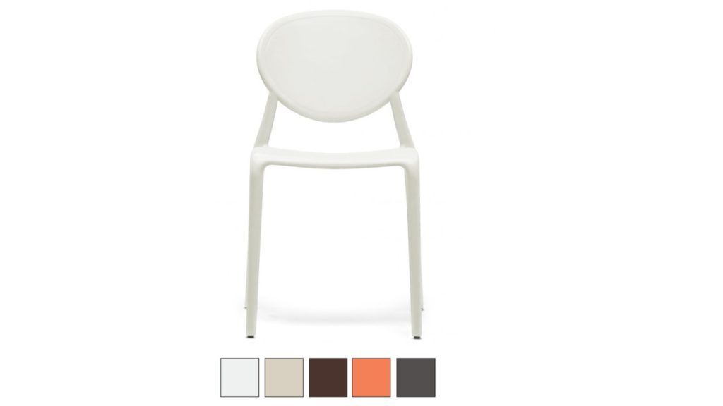 GIO sedia in fibra di vetro Made in Italy