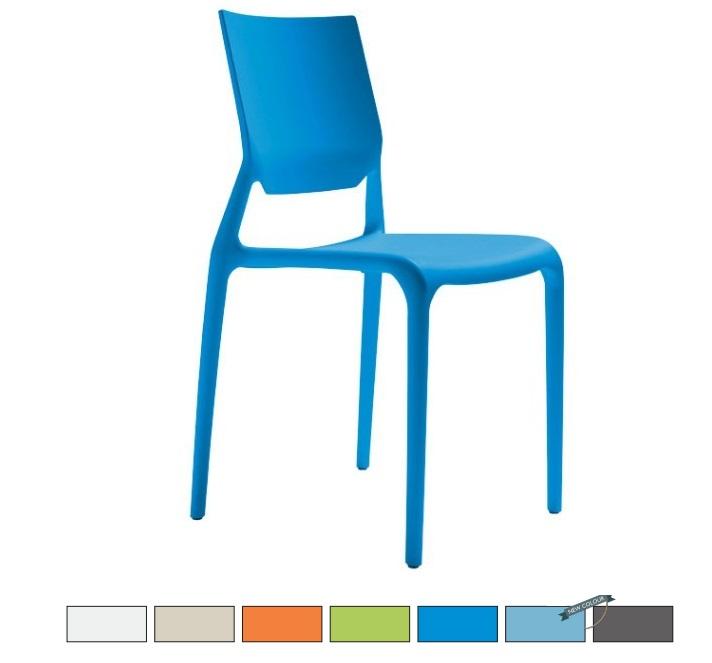 SIRIO sedia in fibra di vetro Made in Italy