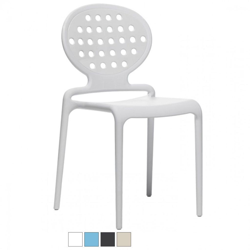 COLETTE sedia in fibra di vetro Made in Italy