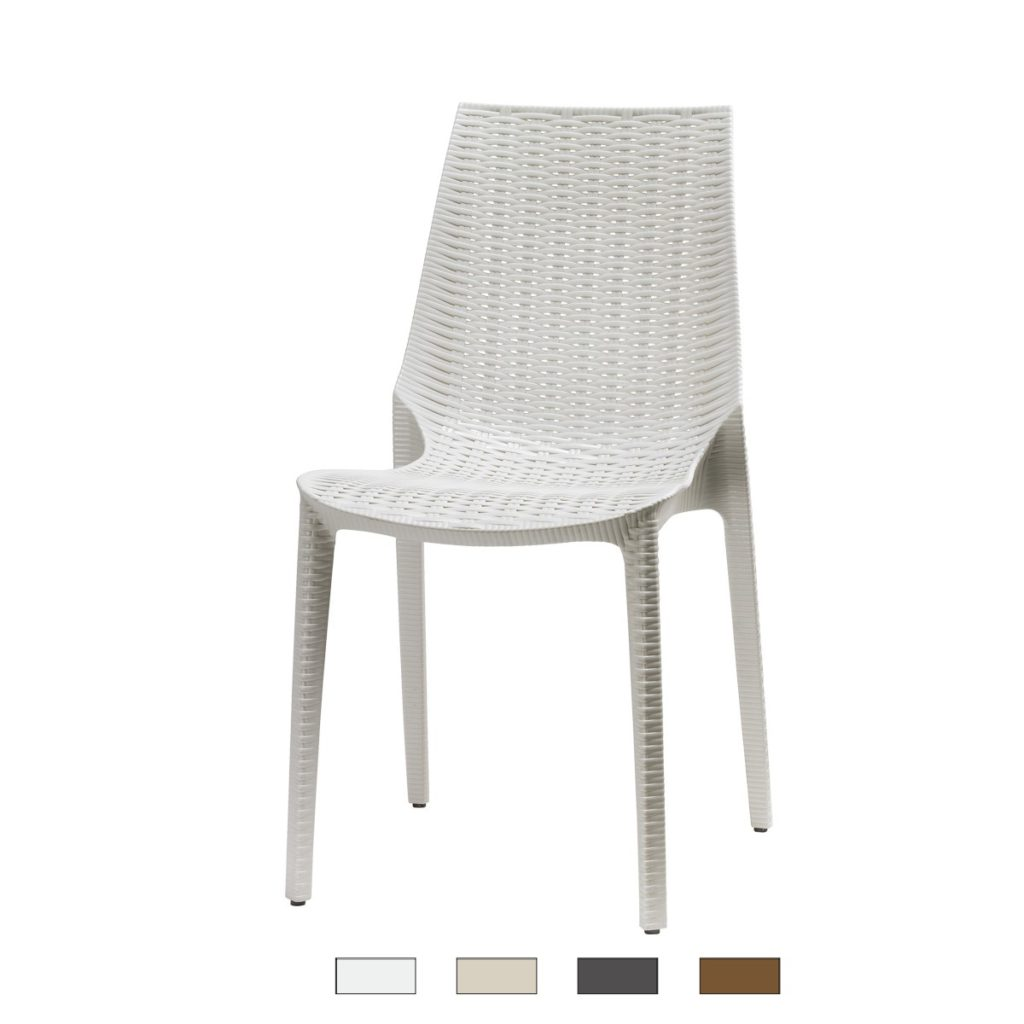 LUCREZIA sedia fibra di vetro Made in Italy