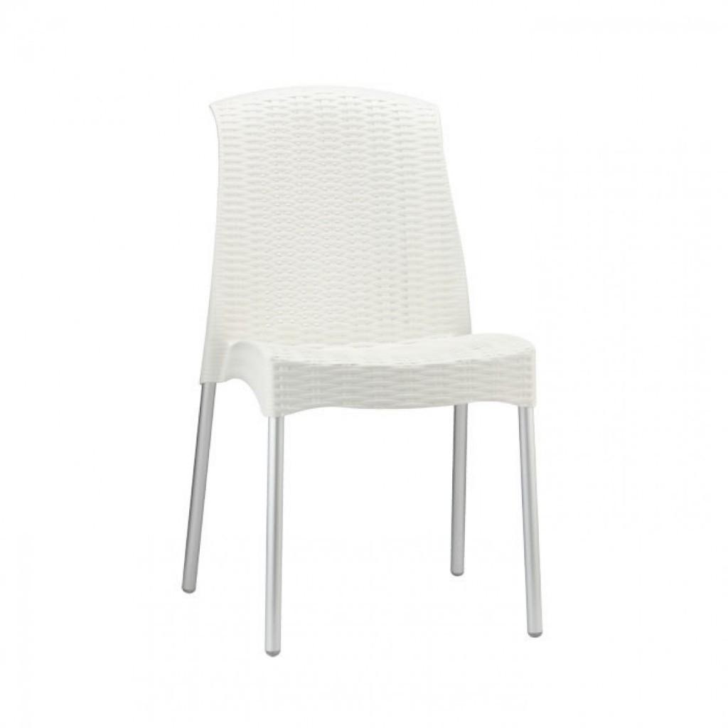 OLIMPIA  sedia in fibra di vetro gambe anodizzate