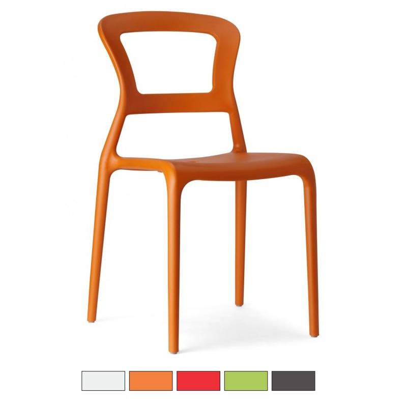 PEPPER sedia in fibra di vetro Made in Italy